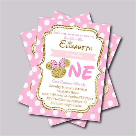 Undangan Ulang Tahun Birthday Invitation Minnie Mouse 20 pcs lot minnie mouse birthday invitation mickey minnie mouse baby shower invites custom