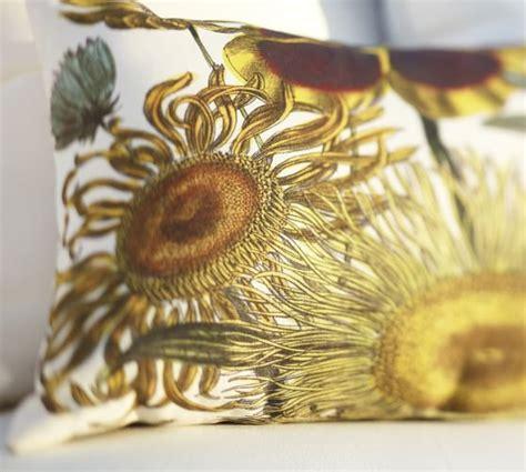 sunflower botanical indoor outdoor lumbar pillow pottery