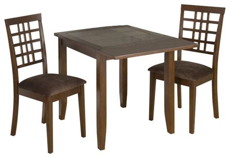 jofran caleb brown 3 dining room set contemporary