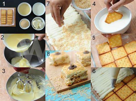 cara membuat cheese cake biskut aku seorang isteri ibu