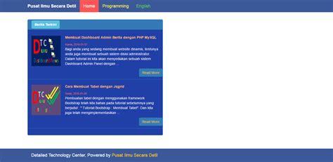 membuat halaman admin web dengan php membuat web portal berita dengan php cara membuat php