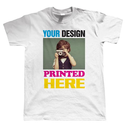 create your own custom printed t shirt white any design custom t shirt printing personalised your image photo