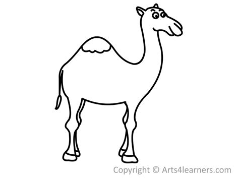 how to draw a camel arts4learners
