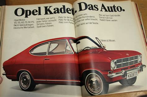 opel volkswagen opel kadett das auto 1968 1969 promoted the adam opel