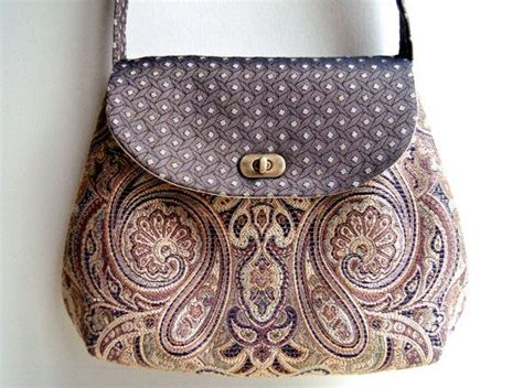 Fabric Handmade Purses - cross vintage handbag fabric bag handmade bags