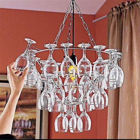 wine glasses chandelier wine glass chandelier 11 creative ideas guide patterns