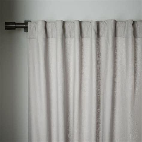 linen cotton drapes linen cotton curtain platinum west elm