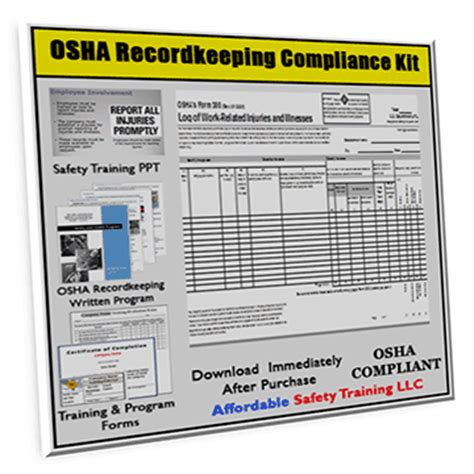 Osha 300 Recordkeeping Forms Training And Safety Plan Xo Safety Osha Electrical Safety Program Template