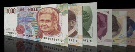 exchange pre euro money from italy italian lira