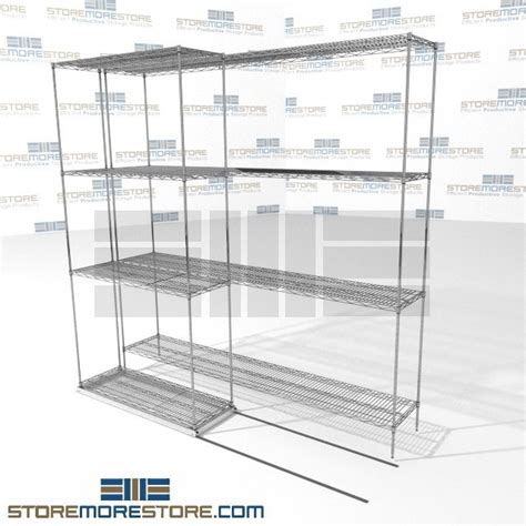wire sliding shelves wire shelving the store