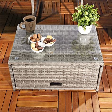 ottomane einzeln rattanlounge grau relaxsessel sitzgruppe lounge sofa liege