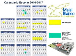 calendario escolar ujat 2016 2017 calendario escolar 2016 2017 centro concertado majal blanco