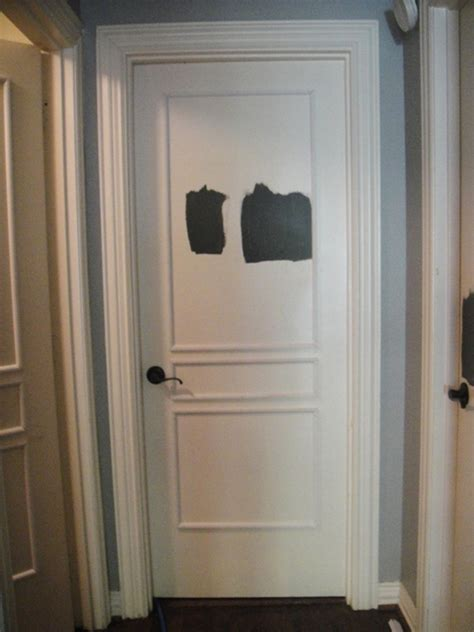 Door Trim by Painting Interior Doors Black Southern Hospitality