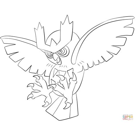 noctowl pokemon coloring pages noctowl coloring page free printable coloring pages