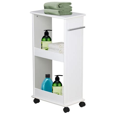 bathroom storage on wheels slimline rolling storage shelf with 4 wheels space saver