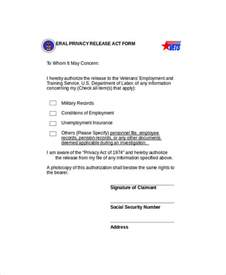 privacy release form template sle privacy act release form 9 exles in word pdf
