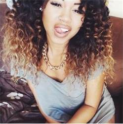 getting hair curled and color black to blonde ombre hair curly hair hair pinterest