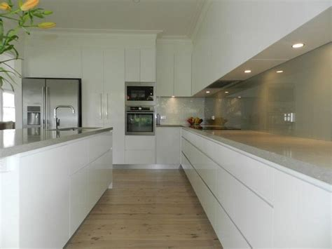 kitchen white units with pale grey worktop