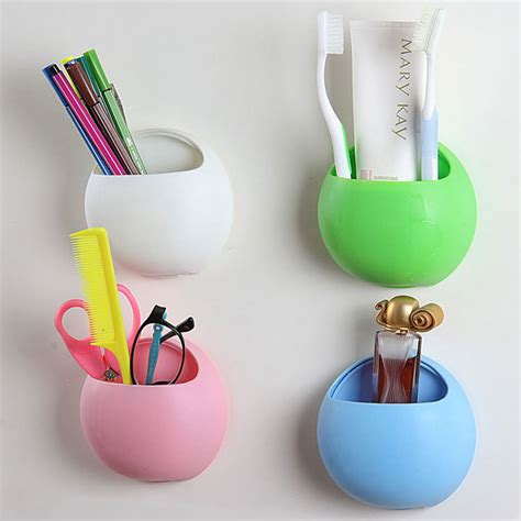 Wall Suction Toothbrush Holder 2016 organizer bathroom toothbrush holder cup wall