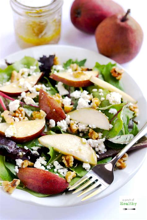 goat cheese salad pear goat cheese and walnut salad a pinch of healthy