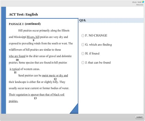 act english section act test prep english section practice question 7