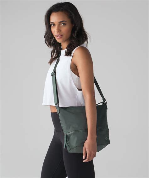 lululemon go lightly shoulder bag lululemon go lightly shoulder bag 9l forest