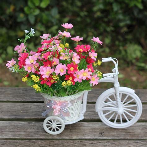 Handmade Flower Baskets - pretty small size flower basket vase handmade rattan
