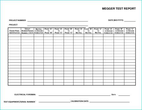 megger test report template megger test report form related keywords megger test