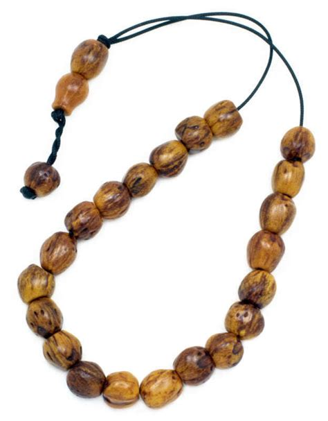worry bead worry komboloi scented nutmeg seeds light brown ebay