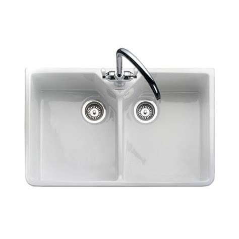 double ceramic kitchen sink rangemaster double bowl belfast sink sinks taps com