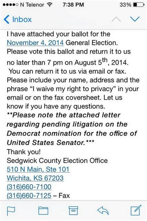 wrong deadline date in e mail from sedgwick county