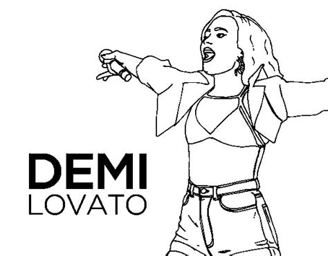Dibujo de Demi Lovato en concierto para Colorear   Dibujos.net