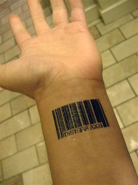 barcode tattoo wrist barcode on wrist search engine at search