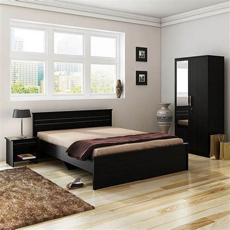 Home Interiors Online Shopping Spacewood Carnival Bedroom Set Queen Bed Wardrobe With