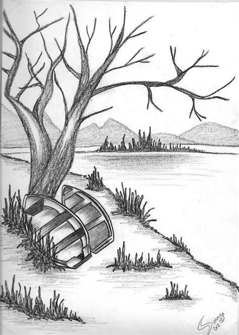 hd pencil drawing pencil drawing scenery hd photos pencil drawing nature 20