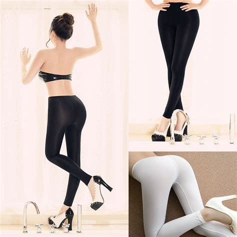 sexy leggings onlyleggingscom women sexy open crotch stretch long pants lingerie see