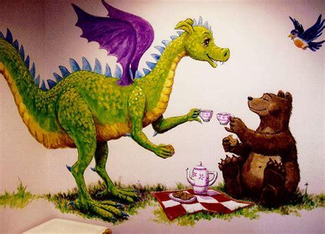 %name Coloring Wall Murals   Dragon and Bear