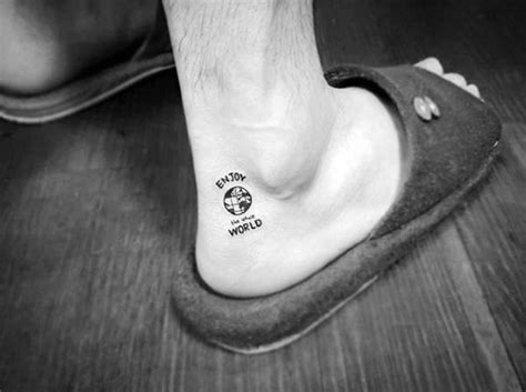 mens ankle tattoos 70 ankle tattoos for masculine design ideas