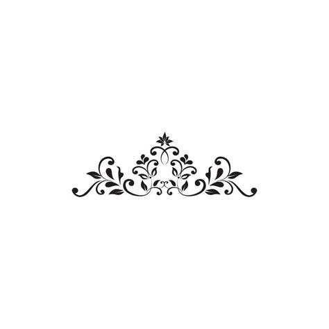 Stickers muraux frises baroque petales   Adhésifs salle de