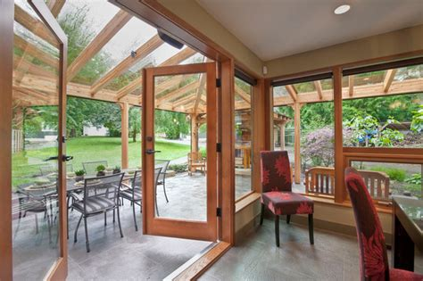 Houzz Outdoor Dining Room Dinning Room Leading Out To Outdoor Living Area