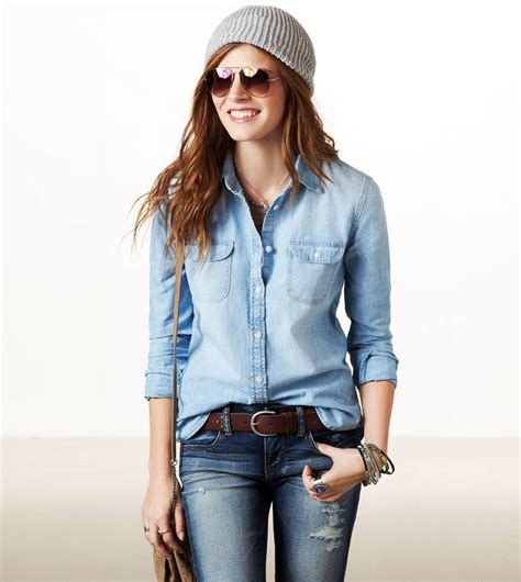 ae chambray shirt american eagle outfitters