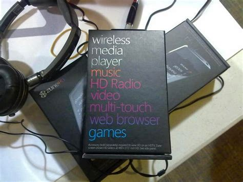 best headphones for zune hd zune hd box spotted