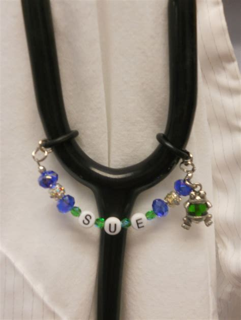 beaded stethoscope covers handmade beaded stethoscope name tag can be done in any