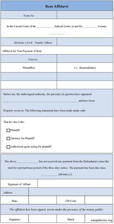 blank rental agreement south africa 38 perfect exles of affidavit form templates thogati