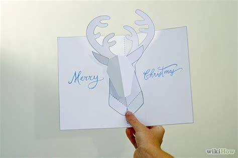 method card template make a reindeer pop up card robert sabuda method card