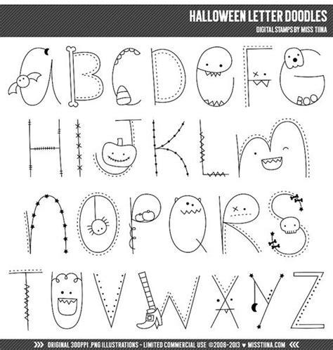 doodle letter letter doodles digital sts clipart clip