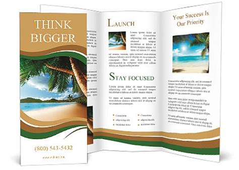 island brochure template sue 241 o vacaciones en la playa folleto y design id