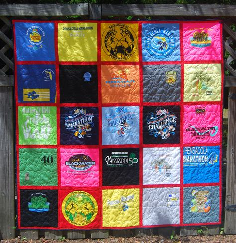 Handmade T Shirt Quilts - custom made longarm quilted t shirt quilts races