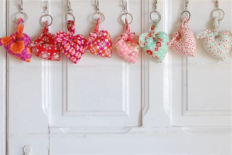 Handmade Fabric Keyrings - handmade fabric keyring pois selectionpois selection
