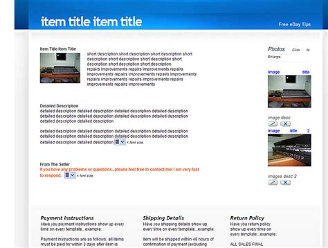 professional free ebay template builder www